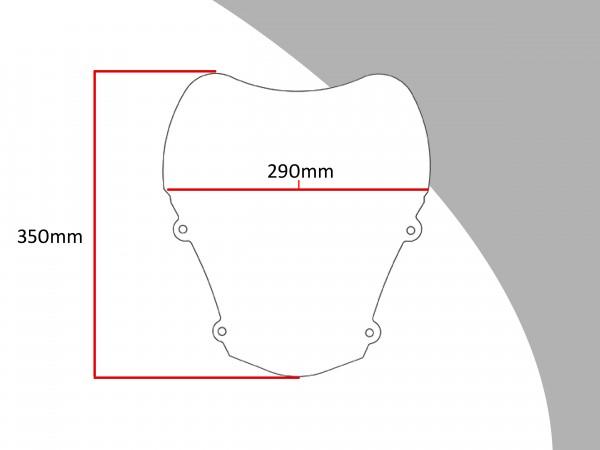 Powerbronze Verkleidungsscheibe Spoiler / Tourenform SUZUKI XF 650 FREEWIND