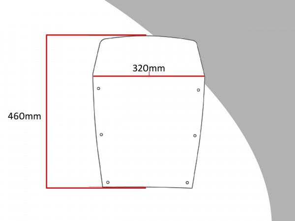 Powerbronze Verkleidungsscheibe Spoiler / Tourenform KAWASAKI GPX 600 R