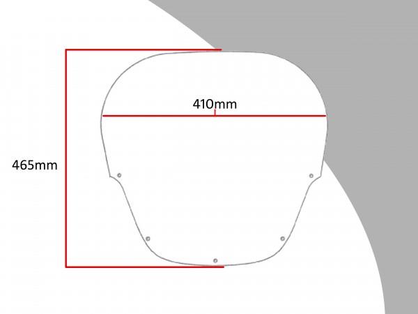 Powerbronze Verkleidungsscheibe Spoiler / Tourenform HONDA CBR 1000 FP