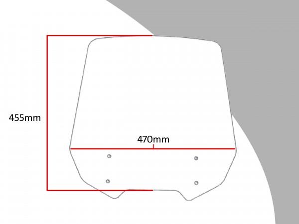 Powerbronze Verkleidungsscheibe Spoiler / Tourenform HONDA NT 700 V DEAUVILLE