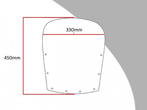 Powerbronze Verkleidungsscheibe Spoiler / Tourenform KAWASAKI GPZ 600 R
