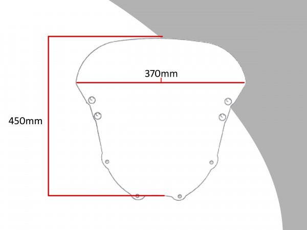 Powerbronze Verkleidungsscheibe Spoiler / Tourenform HONDA CBR 900 RR-R