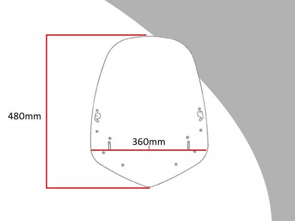 Powerbronze Verkleidungsscheibe Spoiler / Tourenform HONDA CBF 600