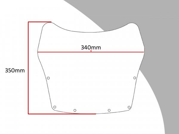 Powerbronze Verkleidungsscheibe Spoiler / Tourenform HONDA CBX 550