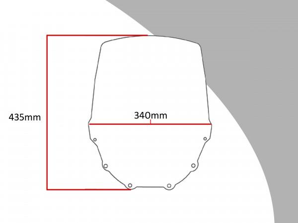 Powerbronze Verkleidungsscheibe Spoiler / Tourenform KAWASAKI ZZR 600 D1-D3