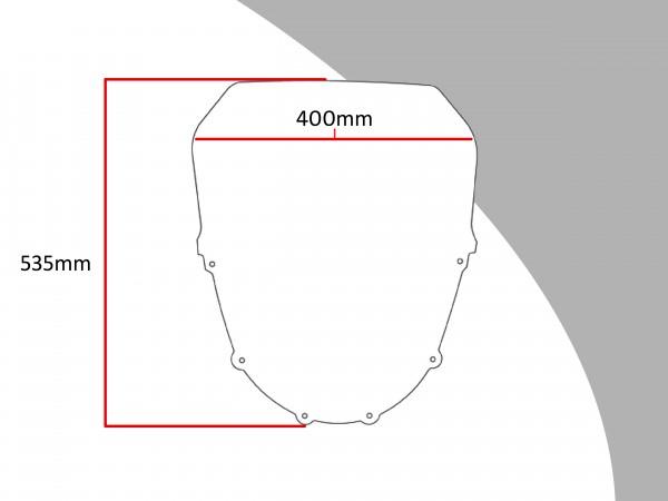 Powerbronze Verkleidungsscheibe Spoiler / Tourenform KAWASAKI ZZR 1100 D1-6