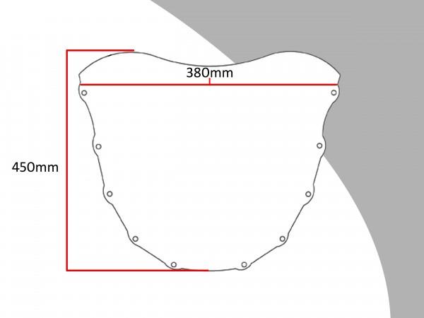 Powerbronze Verkleidungsscheibe Spoiler / Tourenform KAWASAKI ZXR 750 L-M