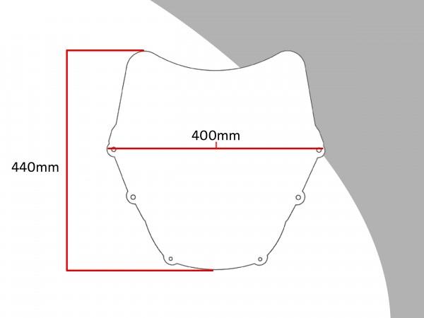 Powerbronze Verkleidungsscheibe Spoiler / Tourenform KAWASAKI GPZ 1100