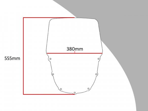Powerbronze Verkleidungsscheibe Spoiler / Tourenform KAWASAKI ZZR 1100 C1-3
