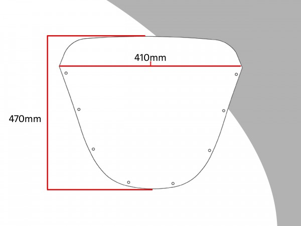 Powerbronze Verkleidungsscheibe Spoiler / Tourenform SUZUKI GSX 1100 EFE