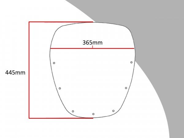 Powerbronze Verkleidungsscheibe Spoiler / Tourenform KAWASAKI ZX 550 UNITRAC
