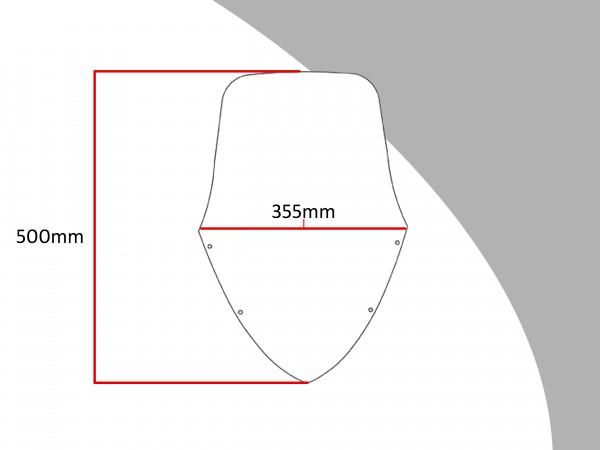 Powerbronze Verkleidungsscheibe Spoiler / Tourenform KAWASAKI ER-6 F