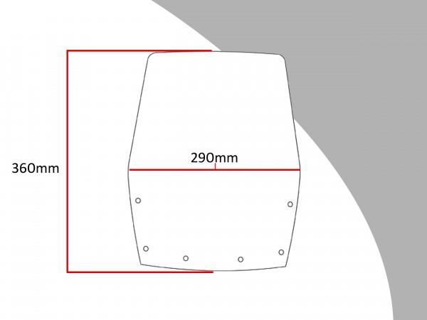 Powerbronze Verkleidungsscheibe Spoiler / Tourenform KAWASAKI GPX 250