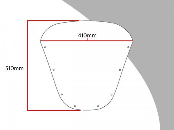Powerbronze Verkleidungsscheibe Spoiler / Tourenform KAWASAKI ZX-9 R B1-B4