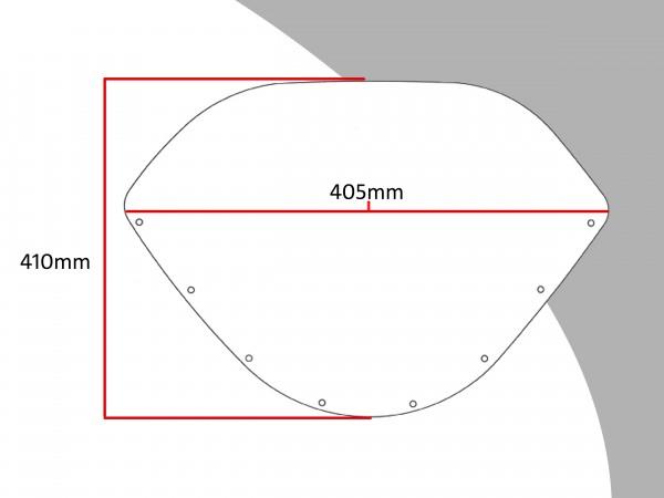 Powerbronze Verkleidungsscheibe Spoiler / Tourenform SUZUKI GSX-R 750 J