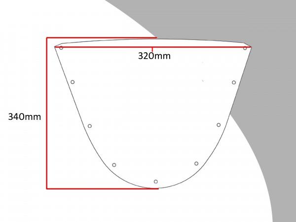 Powerbronze Verkleidungsscheibe Spoiler / Tourenform DUCATI 996 R