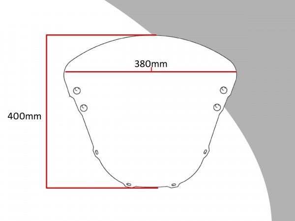 Powerbronze Verkleidungsscheibe Spoiler / Tourenform HONDA CBR 900 RR
