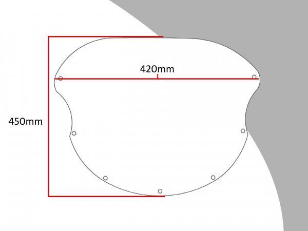 Powerbronze Verkleidungsscheibe Spoiler / Tourenform DUCATI 851 STRADA