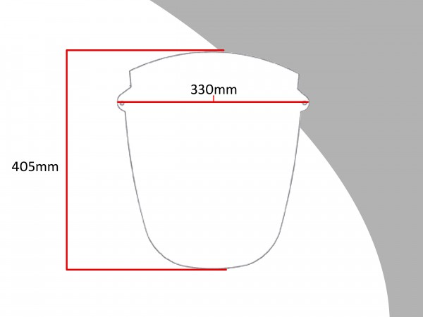 Powerbronze Verkleidungsscheibe Spoiler / Tourenform HONDA CBR 1000 F