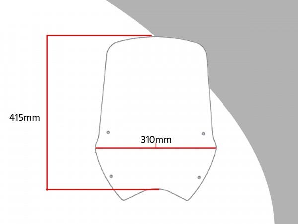 Powerbronze Verkleidungsscheibe Spoiler / Tourenform HONDA XL 700 VA-8 TRANSALP