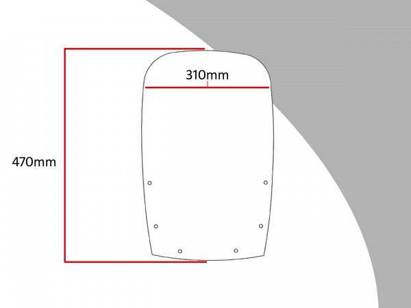 Powerbronze Verkleidungsscheibe Spoiler / Tourenform KAWASAKI GPZ 500 S