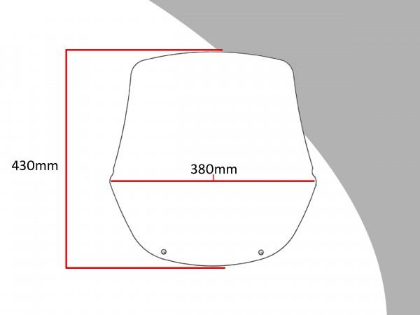 Powerbronze Verkleidungsscheibe Spoiler / Tourenform HONDA XL600V TRANSALP VR-S