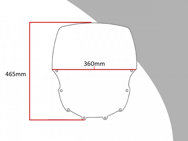 Powerbronze Verkleidungsscheibe Spoiler / Tourenform KAWASAKI ZZR 600 E1-E7
