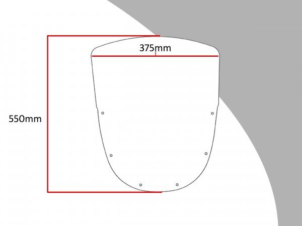 Powerbronze Verkleidungsscheibe Spoiler / Tourenform KAWASAKI ZX-10