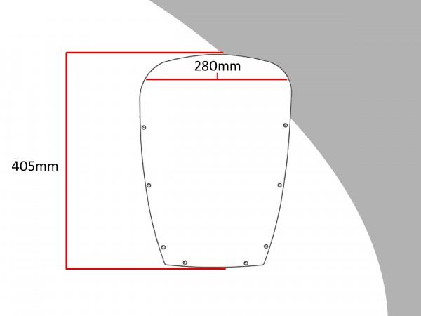 Powerbronze Verkleidungsscheibe Spoiler / Tourenform HONDA VF 750