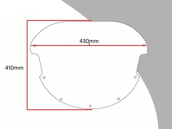 Powerbronze Verkleidungsscheibe Spoiler / Tourenform DUCATI 888 STRADA