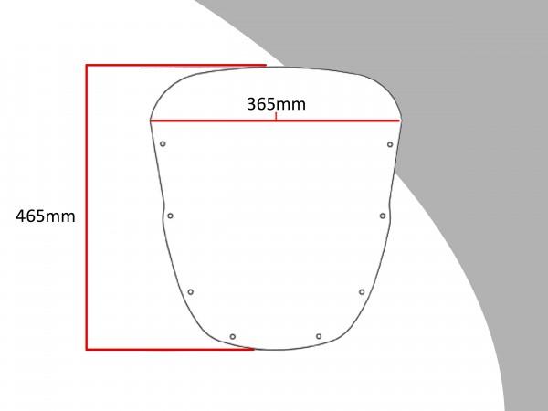 Powerbronze Verkleidungsscheibe Spoiler / Tourenform KAWASAKI ZX6-R F1-F3