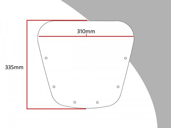 Powerbronze Verkleidungsscheibe Spoiler / Tourenform KAWASAKI ZRX 1100