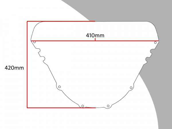 Powerbronze Verkleidungsscheibe Spoiler / Tourenform YAMAHA FZR 600 R